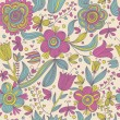 Bright floral seamless pattern. Seamless pattern can be used for wallpaper, pattern fills, web page backgrounds, surface textures. Gorgeous seamless floral background — Stock Vector