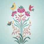 Art nouveau. Stylish floral background — Stock Vector