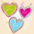 Colorful hearts — Image vectorielle