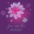 Bright floral background in violet — Stock Vector #25304395