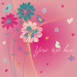Romantic floral background — Imagen vectorial