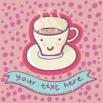 Morning coffee — Stock Vector