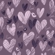 Romantic seamless pattern — Vector de stock #25304683
