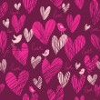 Romantic seamless pattern — Vector de stock #25304687