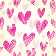 Pink hearts - seamless pattern — Stock Vector #25304703