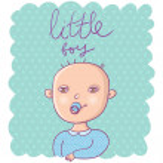 Cute newborn boy — Stock Vector #25304937