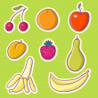 Sweet fruits - cartoon isolated vector set - Stock Vector