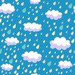 Colorful seamless pattern - rainy weather — Stock Vector