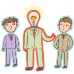 Idea concept - business leader — Stock Vector #25306071