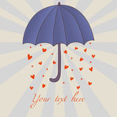 Romantic umbrella — Stock Vector