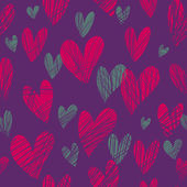 Pink hearts - seamless pattern — Stock vektor