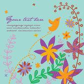 Summer floral composition - vector illustration — Stock Vector