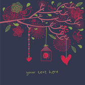 Floral romantische samenstelling — Stockvector