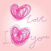 Miluji tě - napsal vektorové text — Stock vektor