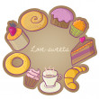 Dessert design — Stock Vector