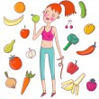 Healthy lifestyle — Vector de stock