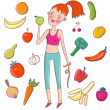 Stock Vector: Healthy lifestyle