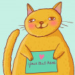 Cartoon fat cat — Imagen vectorial
