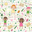 School seamless pattern — Grafika wektorowa