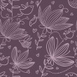 Violet floral seamless pattern — Stock Vector #25313691