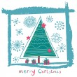 Christmas card — Vector de stock #25314307