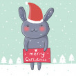 Christmas hare — Stock Vector