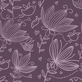 Violet naadloze bloemmotief — Stockvector