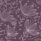 Violet nahtlose blümchenmuster — Stockvektor