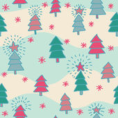 Seamless christmas pattern — Stockvector