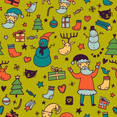 Stylish bright Christmas seamless pattern — Stock Vector