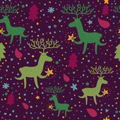 Cute christmas seamless pattern — Cтоковый вектор