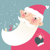 Happy santa portrait — Stock Vector