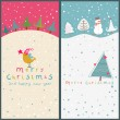 Royalty-Free Stock Vector Image: Christmas cartoon cards