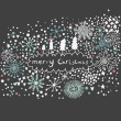 Abstract Christmas background — Stockvektor