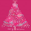 Vector de stock : Bright Christmas tree