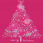 parlak Noel ağacı — Stok Vektör