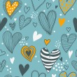 Stylish romantic seamless pattern in vector - Stock Vector