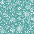Stock Vector: Christmas pattern, snowflakes