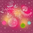 Bright Christmas background — Stok Vektör