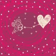 Lovely cupid, valentine card - Stok Vektör