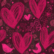 Romantic seamless pattern — Vector de stock