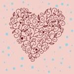 Floral romantic illustration — Stock Vector