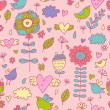Bright spring cartoon seamless pattern — Stock Vector #25359277