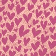 Pink hearts - seamless pattern — Stock Vector #25359305