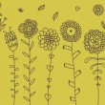 Cartoon flowers set — Stock Vector