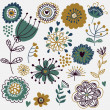 Summer floral seamless pattern — Stock Vector