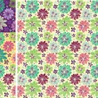 Stock Vector: Seamless vector floral pattern set