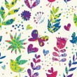Bright summer floral seamless pattern — Stock Vector