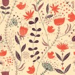 Floral seamless pattern in retro style — Vettoriali Stock