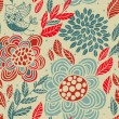 Floral seamless pattern in retro style — Stock Vector